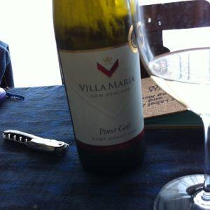昼間から飲んじゃいました(^v^)癒しワイン ヴィラマリア ピノグリ