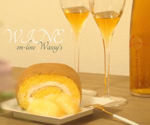 白桃 ロールケーキ デザートワイン
